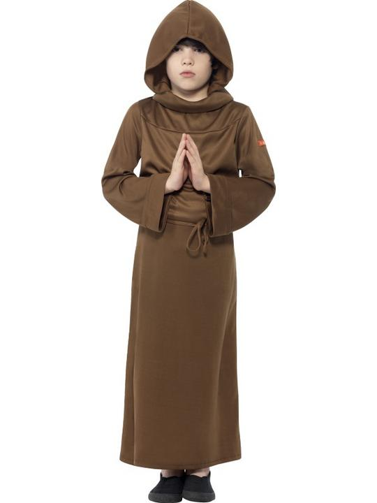 Kids Horrible Histories Medieval Monk Boys Book Week Fancy Dress Costume Outfit Thumbnail 1