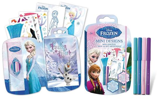 Disney Frozen Mini Designs Book. Colour Anna, Elsa and Olaf in the go. Thumbnail 1