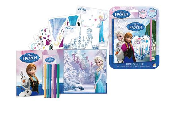 Disney Frozen Anna and Elsa Dress Designing Kit. Thumbnail 1