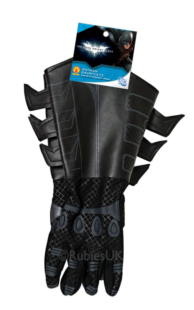 Adult Deluxe Superhero Batman Gauntlets Gloves Fancy Dress Costume Accessory