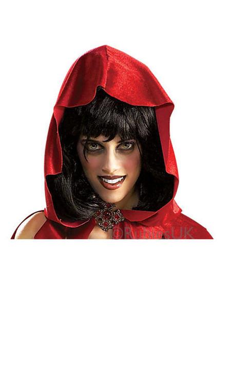 Little Dead Riding Hood Fancy Dress Wig Thumbnail 1
