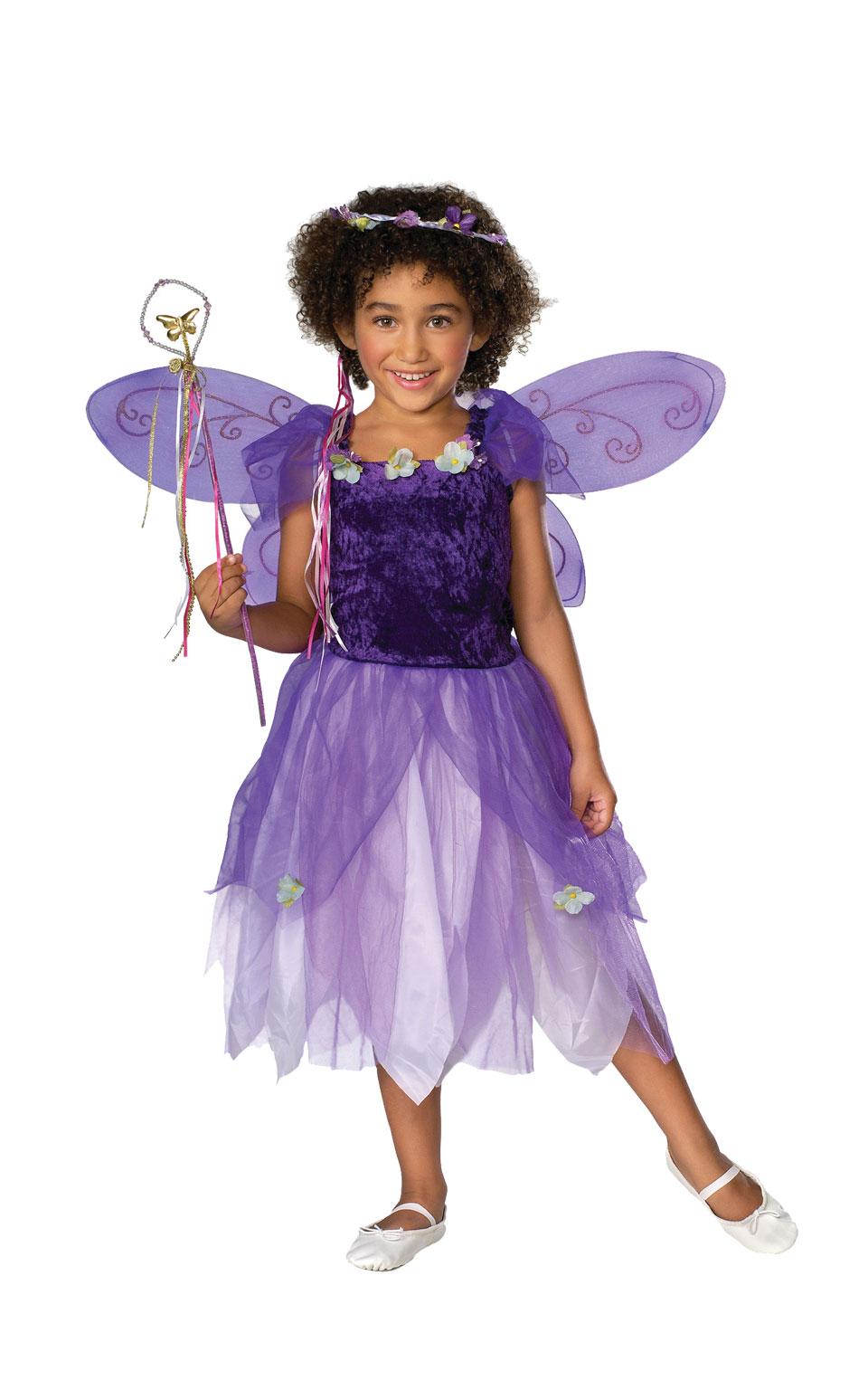 fairy princess girls fancy dress costume party outfit kids