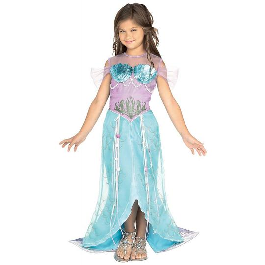 Girls Mermaid Pincess Fancy Dress Costume Thumbnail 1