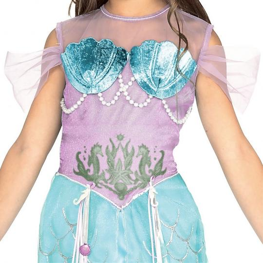 Girls Mermaid Pincess Fancy Dress Costume Thumbnail 2