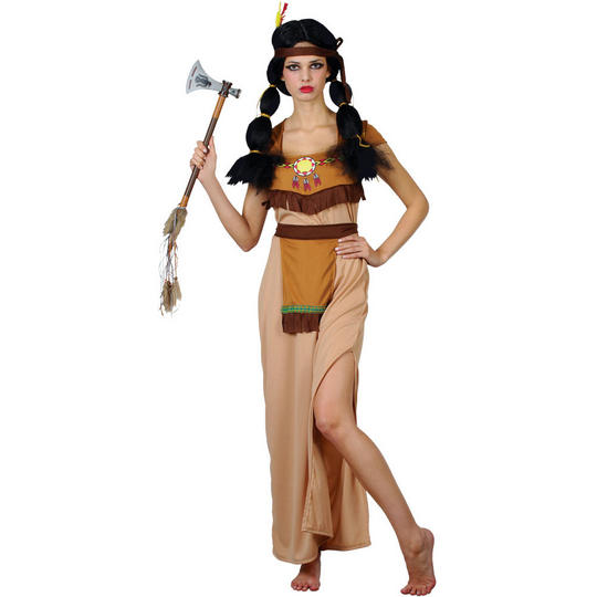 Adult Sexy Wild West Native Indian Squaw Ladies Fancy Dress Costume Party Outfit Thumbnail 1