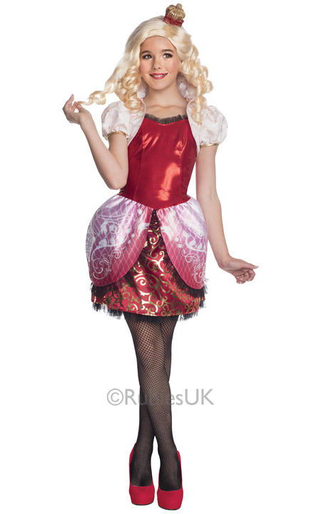 Kids Ever After High Apple Snow White Girls Fancy Dress Book Week Childs Costume Thumbnail 1