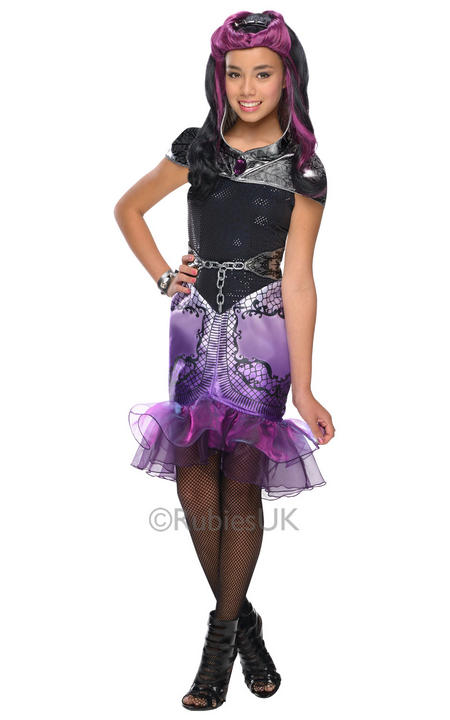 Child Monster Ever After High Raven Queen Outfit Fancy Dress Costume Kids Girls Thumbnail 1