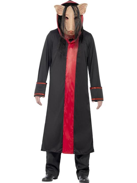 Adult Movie Licensed Saw Pig Mens Halloween Horror Fancy Dress Costume Outfit Thumbnail 1