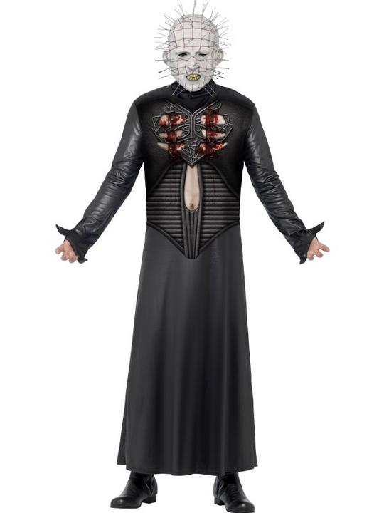 Adult Movie Licensed Hellraiser Pinhead Mens Halloween Party Fancy Dress Costume Thumbnail 1