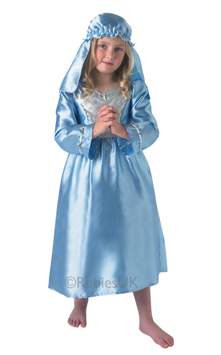 Childs Nativity Mary Fancy Dress Costume Thumbnail 1