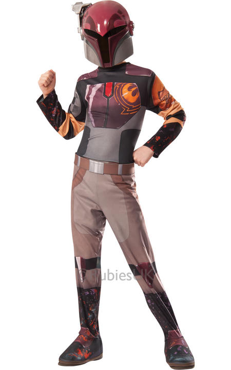 SALE! Childrens Disney Star Wars Rebels SABINE Boys Fancy Dress Costume Outfit Thumbnail 1