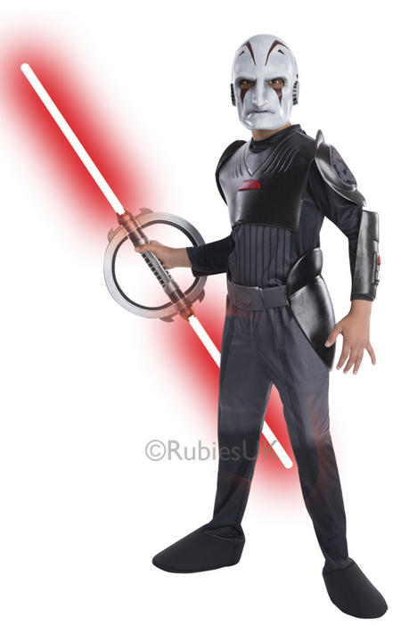 Childrens Disney Star Wars Rebels DELUXE INQUISITOR Boys Fancy Dress Costume Thumbnail 1