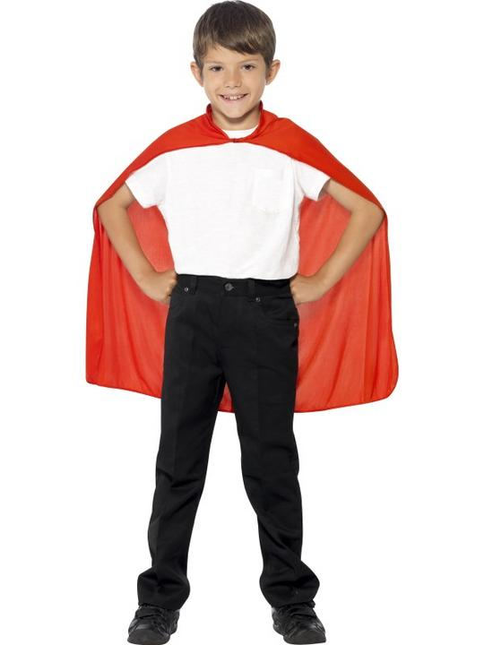 SALE! Child Red Cape Girls / Boys Fancy Dress Kids Party Costume Accessory Thumbnail 1