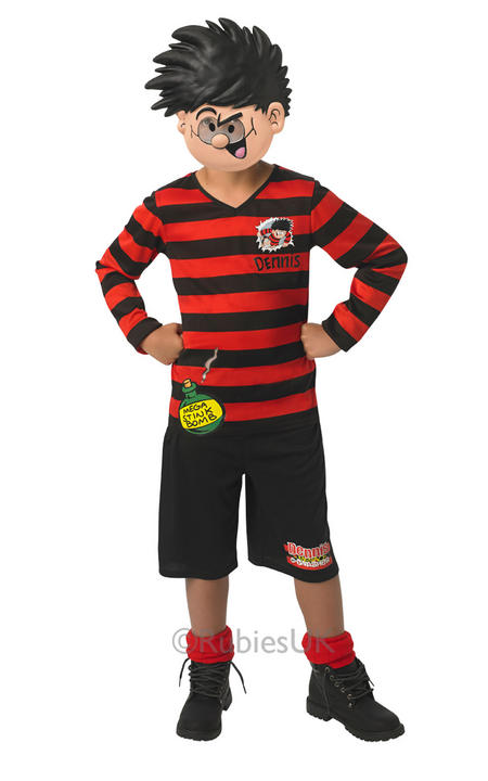 Boys Dennis the Menace Costume Kids Beano School Book Week Comic Fancy Dress Thumbnail 1