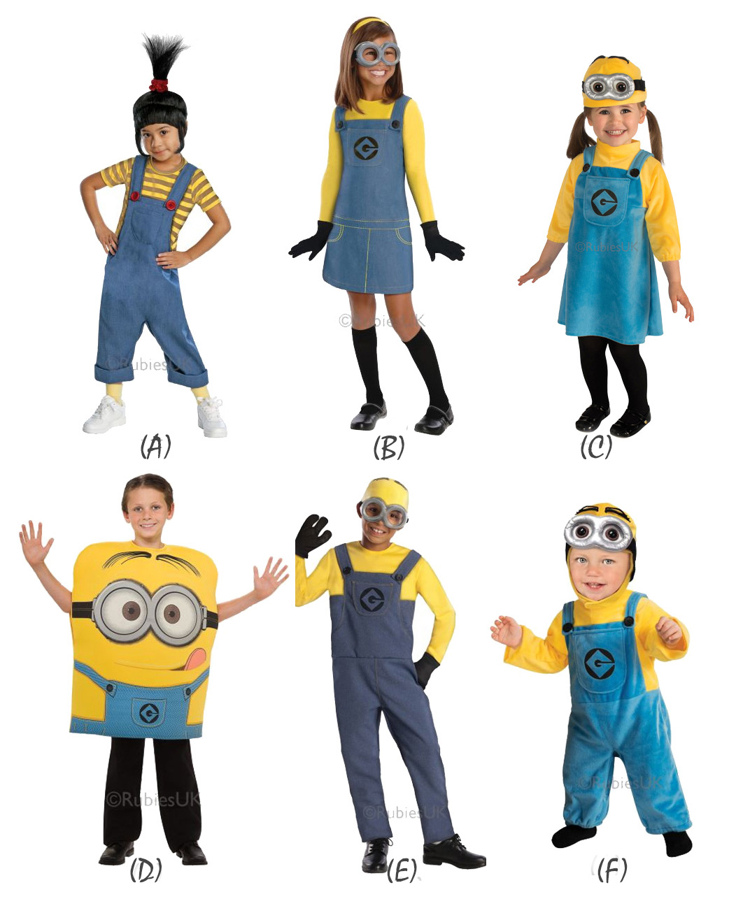 New Kids Official Despicable Minion Fancy Dress