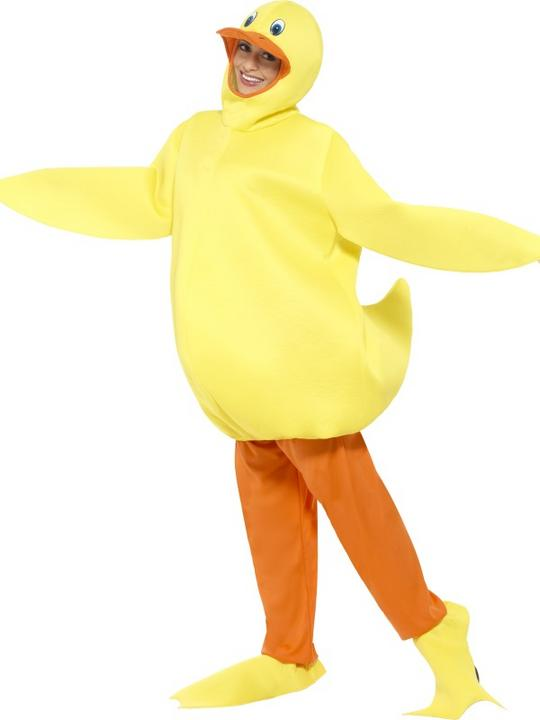 Duck Costume Mens Womens Costume Adults Fancy Dress Outfit Animal Bird  Thumbnail 2