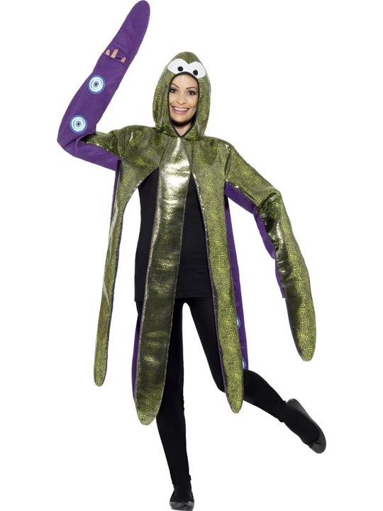 Octopus Costume Mens Womens Costume Adults Fancy Dress Outfit Animal Fish Party Thumbnail 1