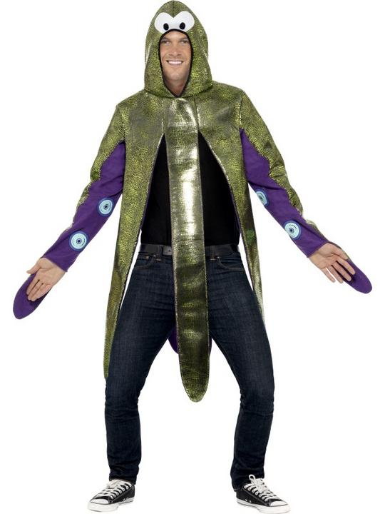 Octopus Costume Mens Womens Costume Adults Fancy Dress Outfit Animal Fish Party Thumbnail 2
