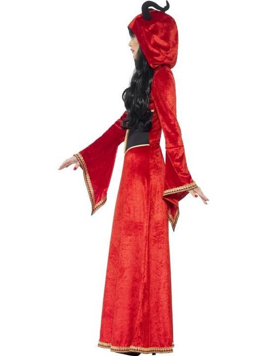 Adult Sexy Red Demonic Devil Queen Ladies Halloween Fancy Dress Costume Outfit Thumbnail 3