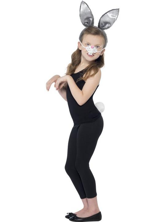 Girls Boys Bunny Kit kids Fancy Dress Rabbit Story Ears Tail Rabbit Outfit Thumbnail 1