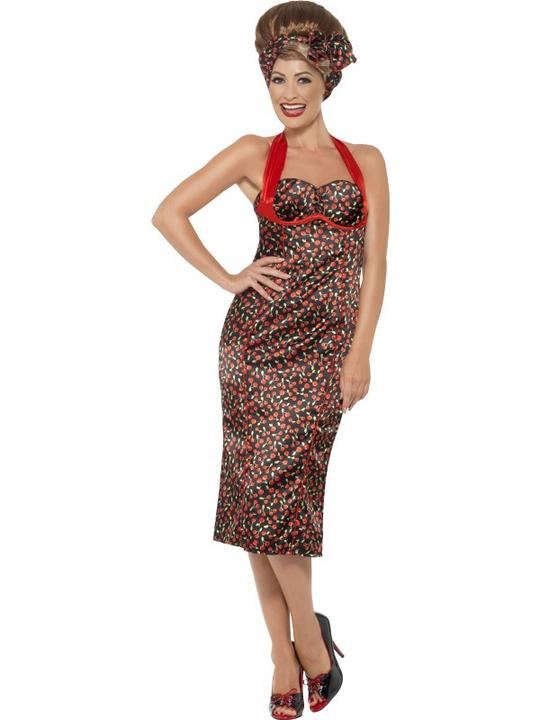 SALE Adult 40s 50s Pin Up Rockabilly Ladies Fancy Dress Hen Party Costume Outfit Thumbnail 1
