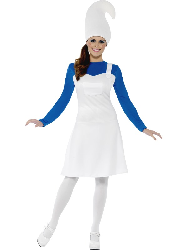 SALE! Adult Funny Blue Garden Gnome Ladies Fancy Dress Hen Party Costume Outfit