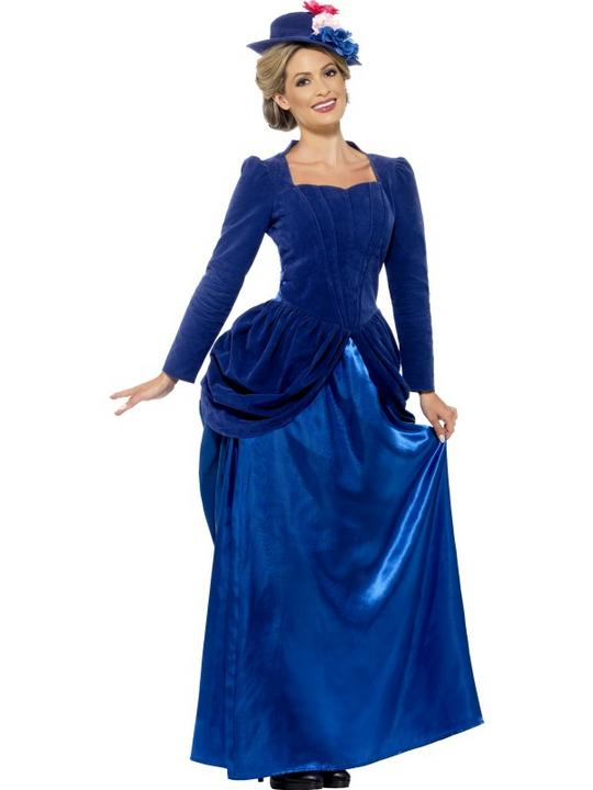 Adult Deluxe Posh Victorian Lady Ladies Book Week Fancy Dress Costume Outfit Thumbnail 1