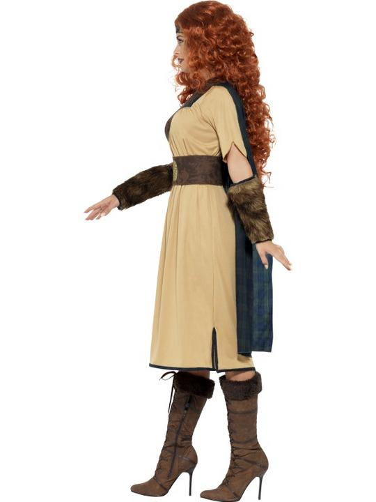 Adult Deluxe Medieval Viking Princess Warrior Queen Ladies Fancy Dress Costume Thumbnail 3