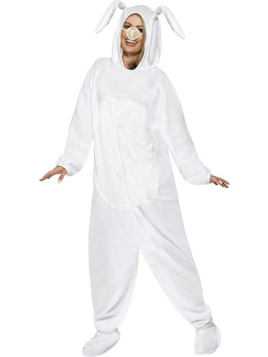 Adult White Rabbit Costume Thumbnail 1