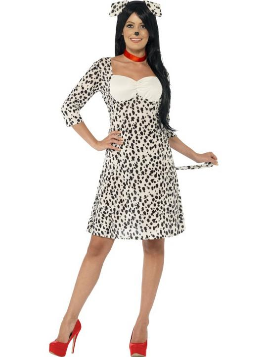 SALE! Adult Funny Animal Dalmatian Dog Ladies Fancy Dress Costume Party Outfit Thumbnail 1