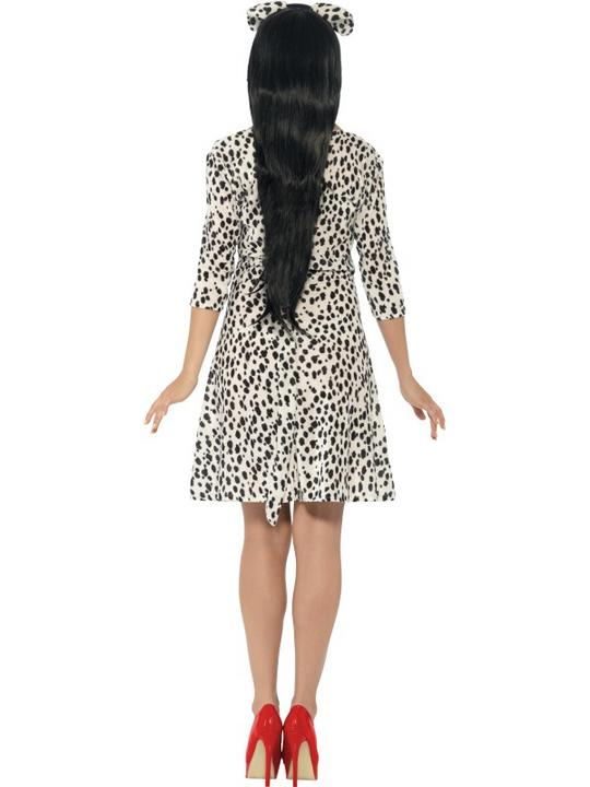 SALE! Adult Funny Animal Dalmatian Dog Ladies Fancy Dress Costume Party Outfit Thumbnail 2
