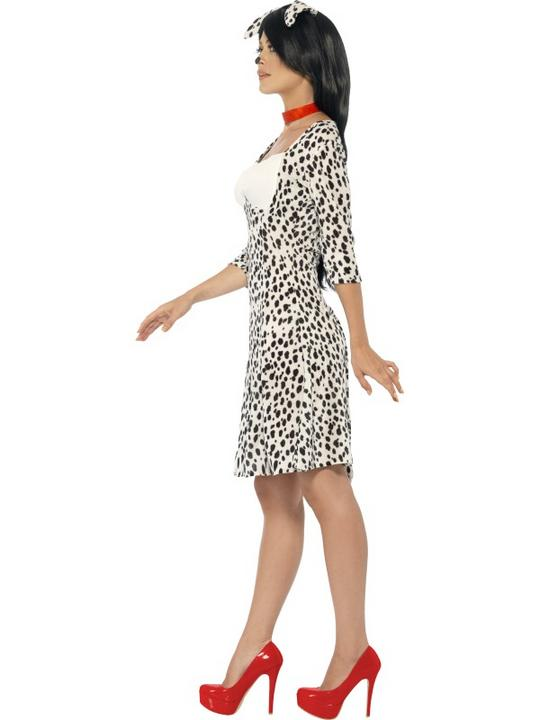 SALE! Adult Funny Animal Dalmatian Dog Ladies Fancy Dress Costume Party Outfit Thumbnail 3