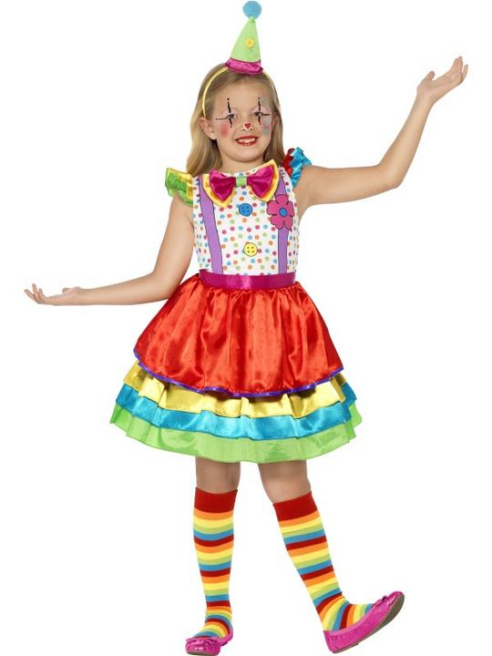 SALE! Childrens Funny Circus Clown Girls Fancy Dress Kids Costume Party Outfit Thumbnail 1