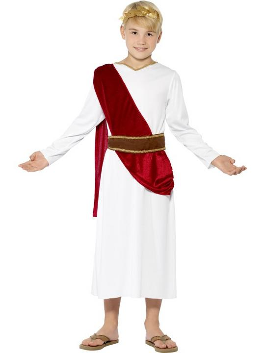 SALE! Child Roman Emperor Caesar Boys Book Week Fancy Dress Kids Party Costume Thumbnail 1
