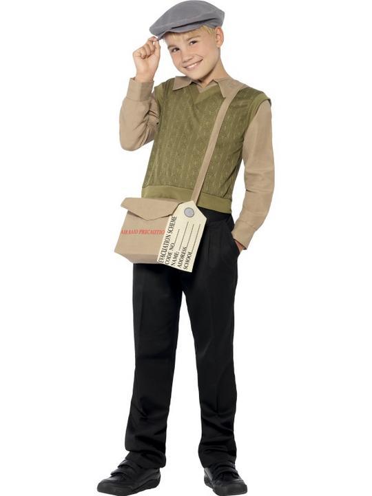 SALE! Child WWII 1940s World War Evacuee Boys Book Week Fancy Dress Kids Costume Thumbnail 1