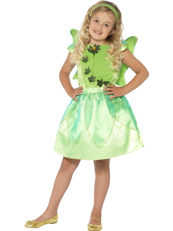 SALE! Child Green Forest Fairy Princess Girls Book Week Fancy Dress Kids Costume