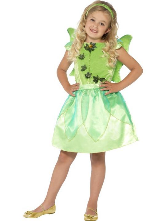 SALE! Child Green Forest Fairy Princess Girls Book Week Fancy Dress Kids Costume Thumbnail 1