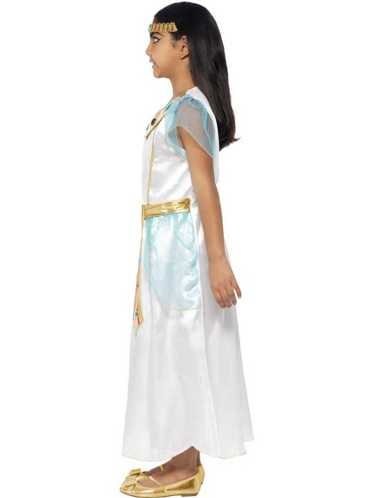 Child Deluxe Egyptian Queen Cleopatra Girls Book Week Fancy Dress Kids Costume Thumbnail 2