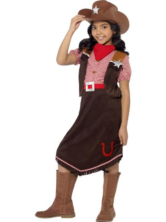 Childs Deluxe Cowgirl Costume Thumbnail 1