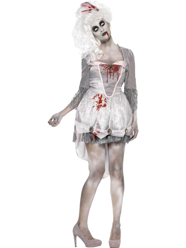 Adult Sexy Zombie Georgian Dress Ladies Halloween Fancy Dress Costume Outfit