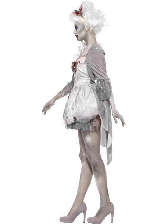 Adult Sexy Zombie Georgian Dress Ladies Halloween Fancy Dress Costume Outfit Thumbnail 3