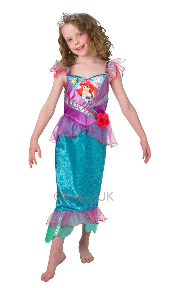 Child Disney Princess Shimmer Ariel Girls Book Week Fancy Dress Kids Costume