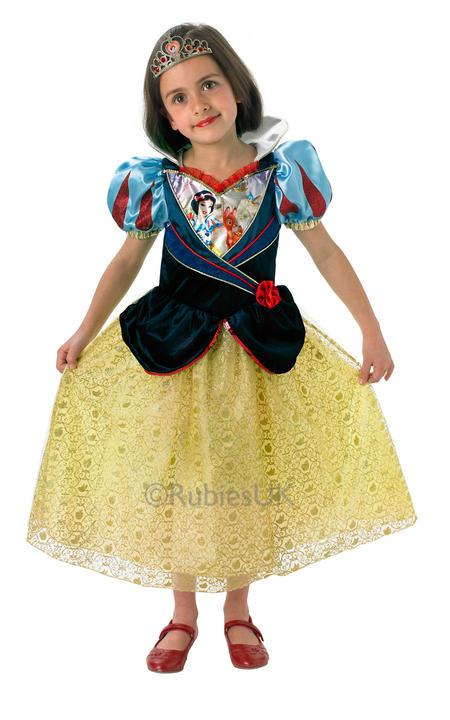 Child Disney Princess Snow White Girls Book Week Fancy Dress Kids Costume Outfit Thumbnail 1
