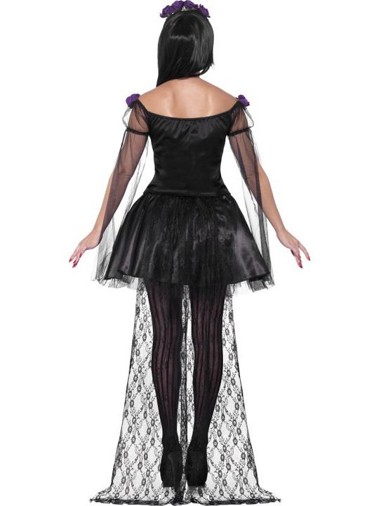 Adult Sexy Mexican Day Of The Dead Senorita Ladies Halloween Fancy Dress Costume Thumbnail 2
