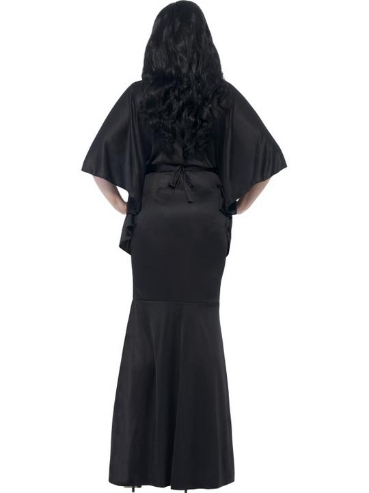 Adult Sexy Gothic Vampiress Ladies Halloween Vampire Party Fancy Dress Costume Thumbnail 2