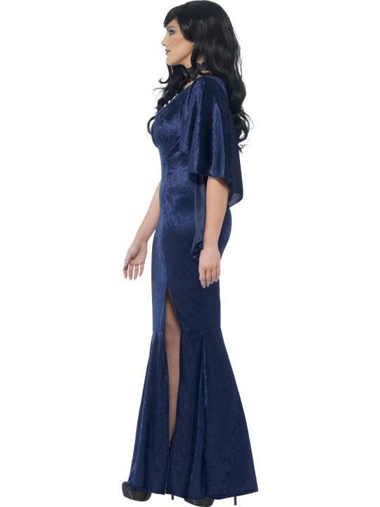 Adult Sexy Gothic Sorceress Ladies Halloween Party Fancy Dress Costume Outfit Thumbnail 3