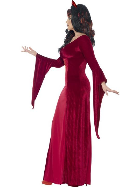 Adult Fuller Figure Sexy Demon Devil Ladies Halloween Party Fancy Dress Costume Thumbnail 3