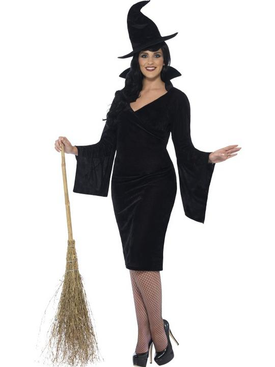Adult Fuller Figure Sexy Witch Ladies Halloween Party Fancy Dress Costume Outfit Thumbnail 1
