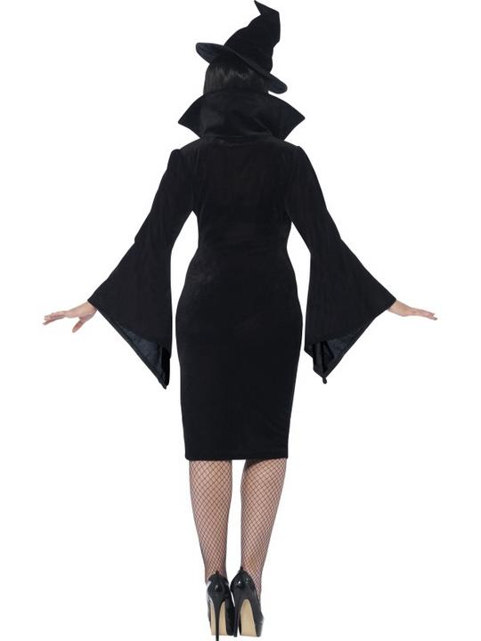 Adult Fuller Figure Sexy Witch Ladies Halloween Party Fancy Dress Costume Outfit Thumbnail 2