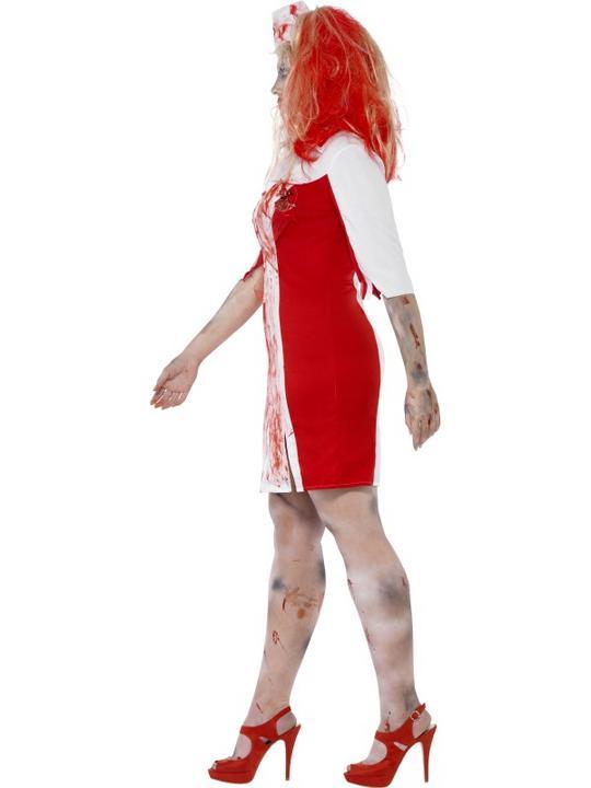 Adult Fuller Figure Sexy Zombie Nurse Ladies Halloween Party Fancy Dress Costume Thumbnail 3